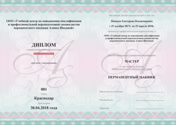 Сертификат мастера - тренера с правом преподавания